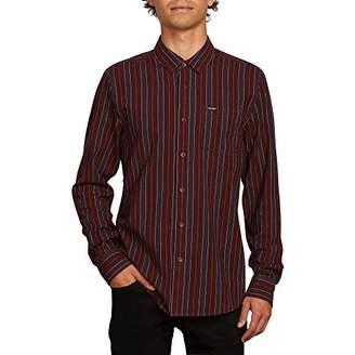 Volcom Men's Clasher Long Sleeve Button Up Shirt