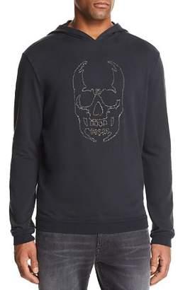 John Varvatos Stitched-Chain Skull Hooded Sweatshirt