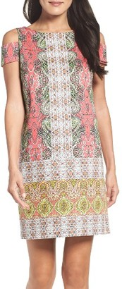Women's Maggy London Border Print Shift Dress $98 thestylecure.com