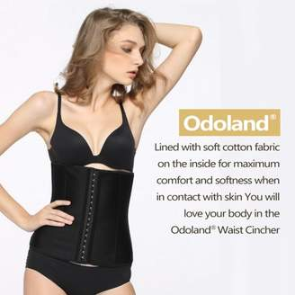 19cbdb969f91 Odoland Women Body Shaper Latex Sport Girdle Waist Training Corset Waist  Shaper Underbust Shapewear Size: