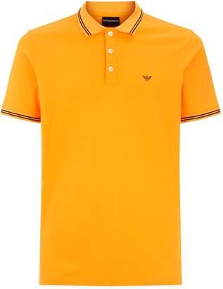 Emporio Armani Striped Trim Polo Shirt