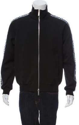 DSQUARED2 Virgin Wool-Blend Logo Bomber Jacket w/ Tags