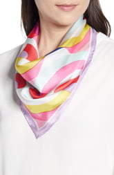 Kate Spade painted rainbow silk scarf