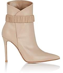 Gianvito Rossi Women's Strap-Detailed Leather Ankle Boots-Lt. brown
