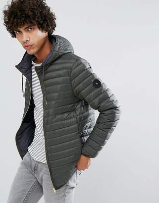 Clean Cut Copenhagen Quilted Zip Through Down Harrington Jacket