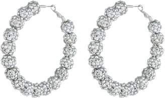 Kenneth Jay Lane Glass crystal hoop earrings