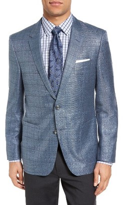 Men's Boss T-Hanley Trim Fit Windowpane Wool Blend Sport Coat $1,295 thestylecure.com