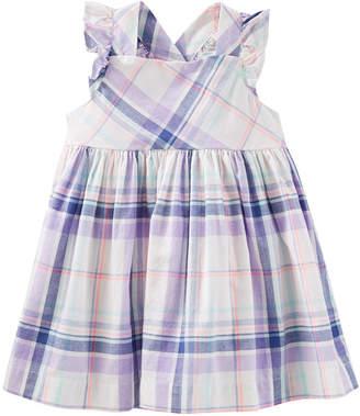 Osh Kosh Oshkosh Cross-Back Plaid Dress - Baby Girls