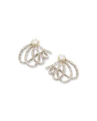 Alexis Bittar Crystal Lace Orbit Earrings $175 thestylecure.com