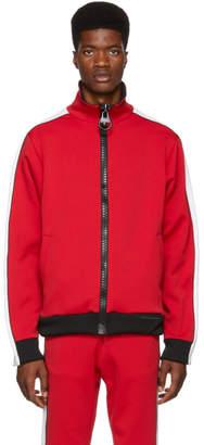 Miharayasuhiro Red Enlarged Zip Track Jacket