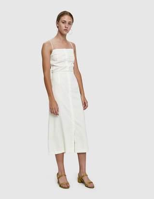 Farrow Fowler Linen Open Back Dress