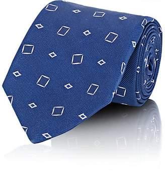 Fairfax MEN'S DIAMOND-JACQUARD SILK TWILL NECKTIE - BLUE