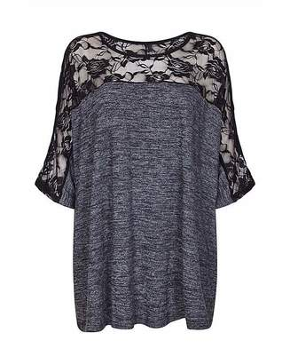Yumi London Curve Lace Sleeve Top