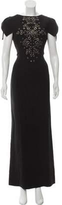 Antonio Berardi Short Sleeve Maxi Dress Black Short Sleeve Maxi Dress