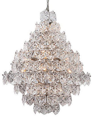 Viz Glass Overture Grand Chandelier - Nickel