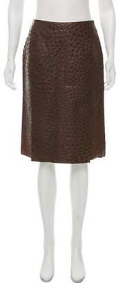 Prada Ostrich Pencil Skirt w/ Tags