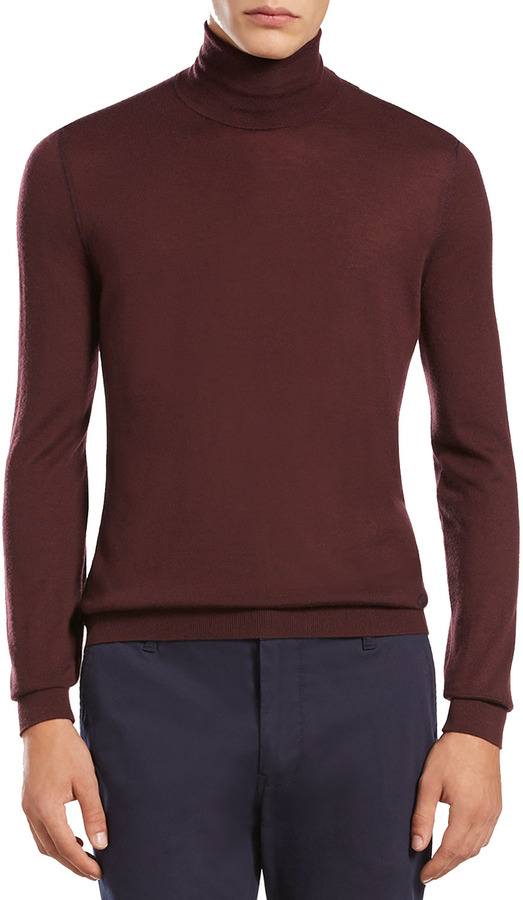 Gucci Cashmere Turtleneck Sweater, Burgundy