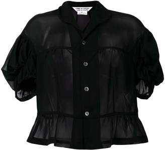 Comme des Garcons puff-sleeve sheer top