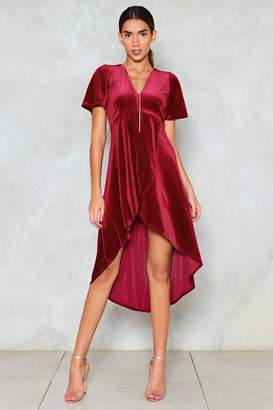 Nasty Gal High Low Can You Go Velvet Dress