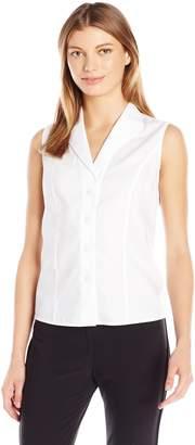 Calvin Klein Women's Sleeveless Wrinkle Free Button Down