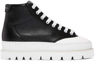 Maison Margiela Black Leather Hiking Boots