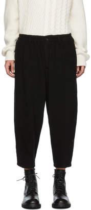 Yohji Yamamoto Black Wool Side Button Trousers