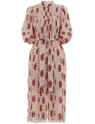 Zimmermann Jaya Flower Cutout Long Dress