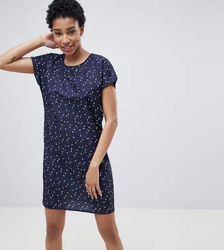 Noisy May Tall star print mini dress in navy