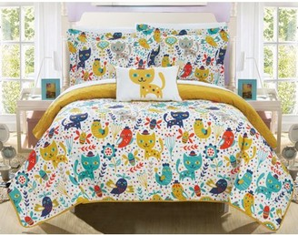Chic Home Wymper 3 Piece Reversible Quilt Set Animal Youth Design Coverlet Bedding