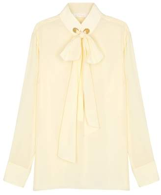3451df23b286eb Cream Silk Crepe Blouse - ShopStyle UK