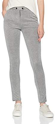 Nümph Women's FURRINA Pants Trousers, Grey Melange, 10 (Size: S)