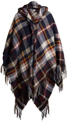Vivienne Westwood Tartan hooded poncho
