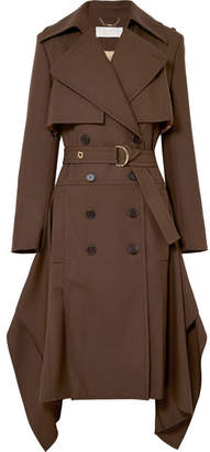 Chloé Double-breasted Wool-gabardine Trench Coat - Brown