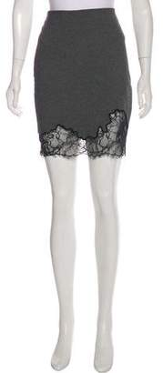 Robert Rodriguez Lace-Trimmed Knee-Length Skirt