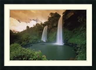 Thomas Laboratories Amanti Art Framed Art Print 'Two Sisters Waterfalls, Iguacu Falls National Park, Brazil' by Marent