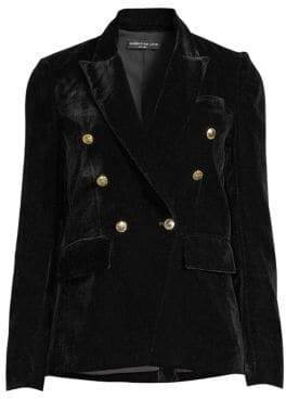 Generation Love Savannah Velvet Double-Breasted Blazer