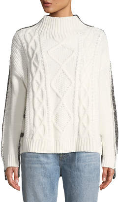 Evidnt Button-Side Knit-Block Sweater