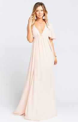 Show Me Your Mumu Faye Flutter Maxi Dress ~ Dusty Blush Crisp