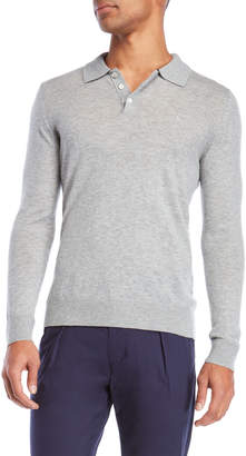 Tailorbyrd Wool Long Sleeve Polo