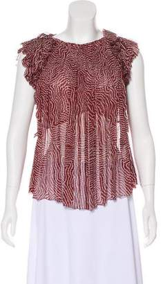 Isabel Marant Silk Sleeveless Blouse