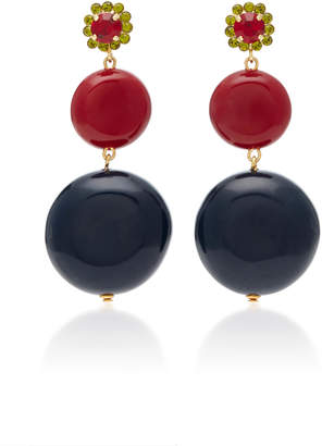 hanging deal on amazing black leather marni earrings shop