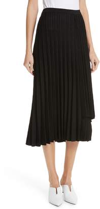 Lewit Metallic Sparkle Pleated Maxi Skirt