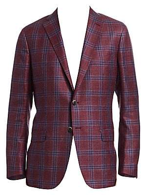 Saks Fifth Avenue Plaid Check Sportcoat