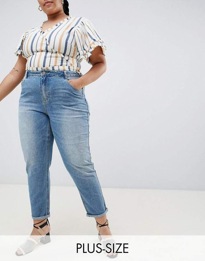 Urban Bliss Plus Mom Jeans in Light Wash