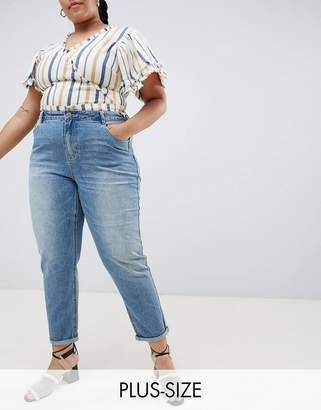 Asos Urban Bliss Plus Mom Jeans in Light Wash