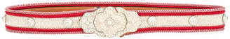 Etro crystal pearl embellished belt