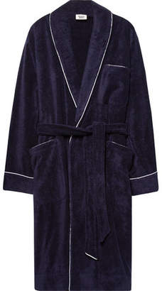 Sleepy Jones Altman Contrast-Tipped Cotton-Terry Robe