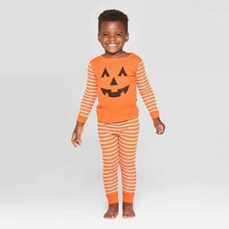 EV Holiday Toddler Family Pajama Halloween Pumpkin Set - Orange