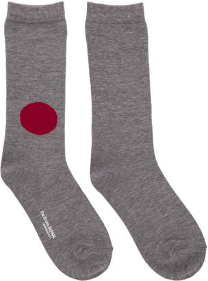 Blue Blue Japan Grey Japan Flag Socks