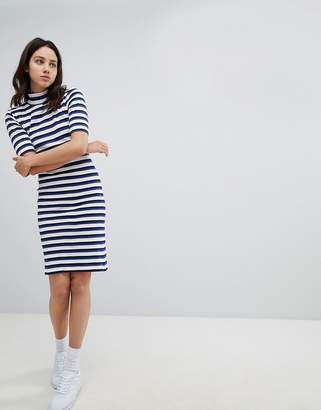 Mads Norgaard Skinny Rib Dress in Organic Cotton